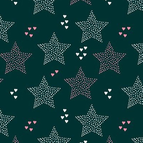 Christmas stars light dreamy winter night love blue navy