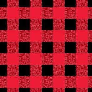 Canada camping theme buffalo plaid check design abstract baby nursery design christmas winter red black