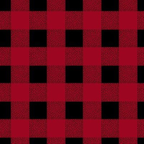 Canada camping theme buffalo plaid check design abstract outdoors design christmas winter red berry