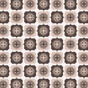 Star Quilt Folk Art Texture Hand Drawn Square Tiles