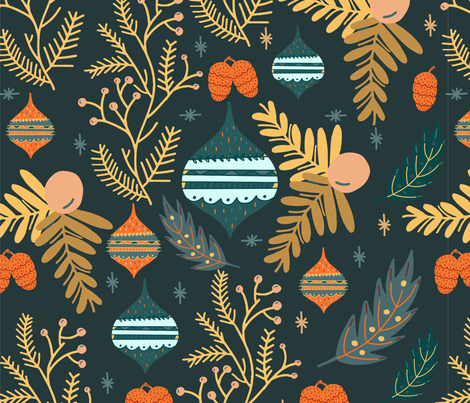 Holiday Cheer fabric by rachel_faber_design on Spoonflower - custom fabric