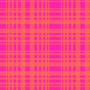 New plaid-hot pink and orange