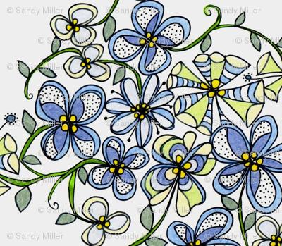 Blue bouquet trellis