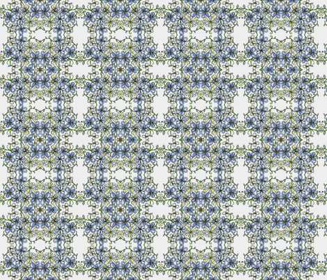 Blue bouquet trellis fabric by unclemamma on Spoonflower - custom fabric