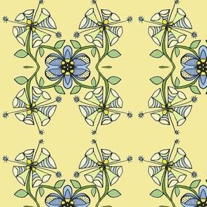 Flower grid-banana