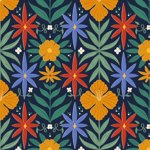 Floral tile print – Large
