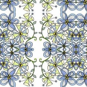 Blue flowers l