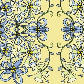 Blue flowers l-banana