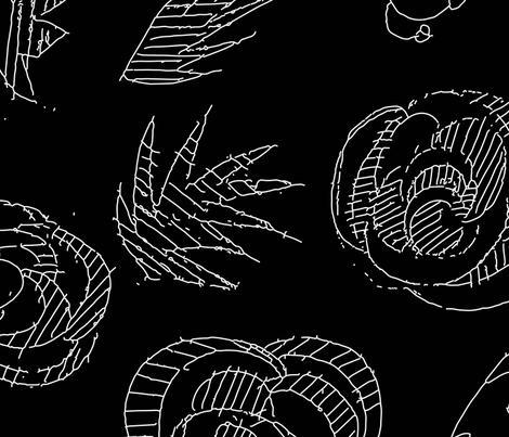 Dark flowers fabric by hellosaraann on Spoonflower - custom fabric