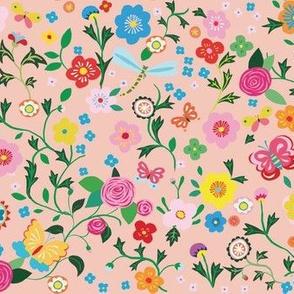 happy flower field