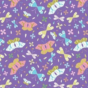 Graphic Large Scale Butterflies Hand Drawn