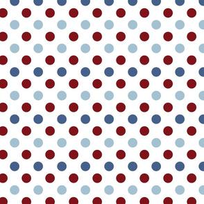 Polka Dot White - Red-01