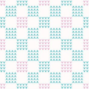 Abstract Chequered Grid Background. Hand Drawn