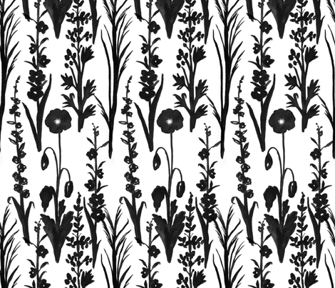 Prairie Poppies and Plants fabric by countrygarden on Spoonflower - custom fabric
