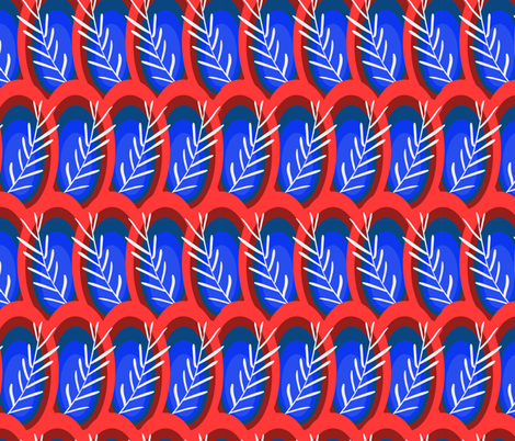 circulos con plantas  fabric by dnapslvsk on Spoonflower - custom fabric