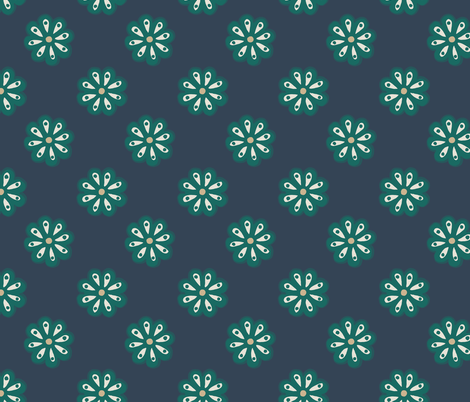 Scandi Daisies fabric by mildreddot on Spoonflower - custom fabric