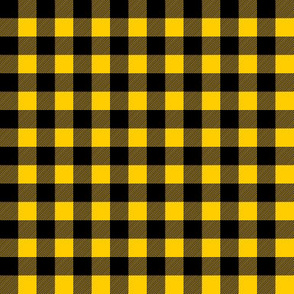 "(1/2"" scale) mustard yellow buffalo plaid C18BS"