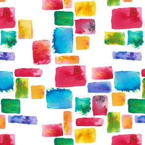 Brusho watercolour mosaic
