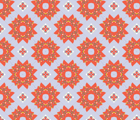 Folky Quilt fabric by kirstenbaxter on Spoonflower - custom fabric