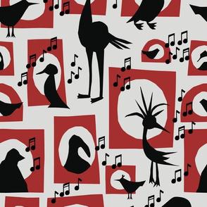 Singing Bird Silhouettes
