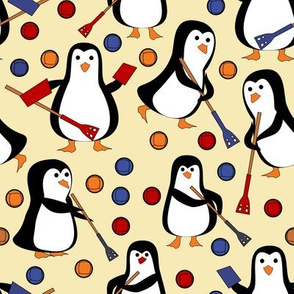 penguin broomball red and blue