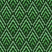 Art deco diamonds in green