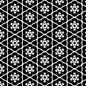 Black and White Snowflake Pattern