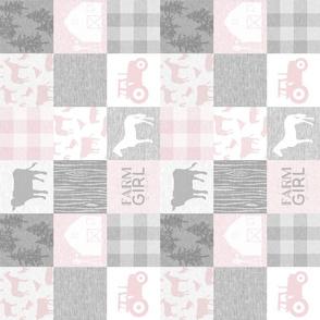 "3"" Farm Girl Quilt - warm pink"