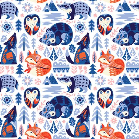 Winter dreams fabric by penguinhouse on Spoonflower - custom fabric