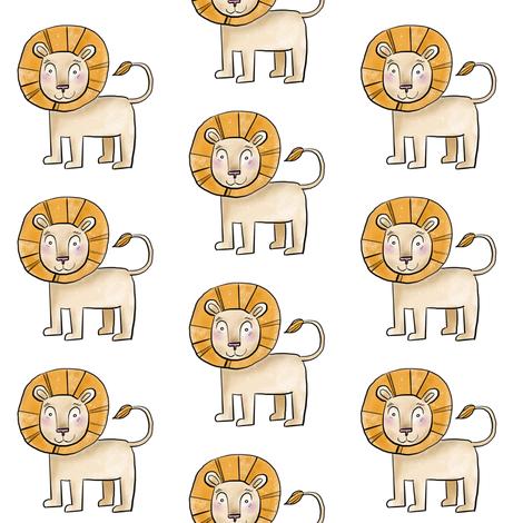 Kind Little Lion - Smaller Size fabric by taraput on Spoonflower - custom fabric