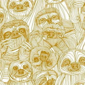 just sloths gold white