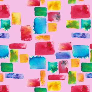 Brusho mosaic pink