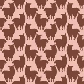 Trendy Cartoon alpaca llamas silhouette
