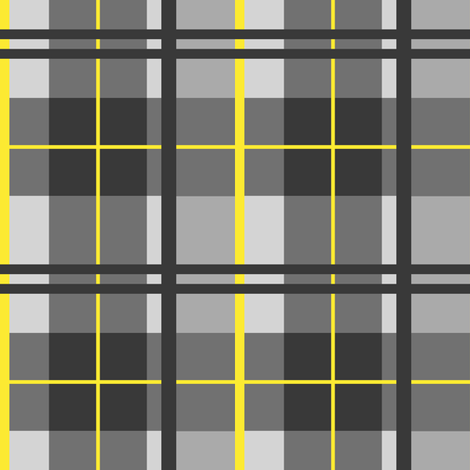 Tartan Plaid (with bright yellow) fabric by arts_and_herbs on Spoonflower - custom fabric