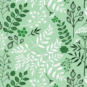 Floral Block Print mint