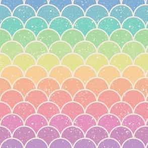 Pastel Rainbow Glitter Scales - Horizontal