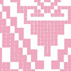 Modern native big invert pink