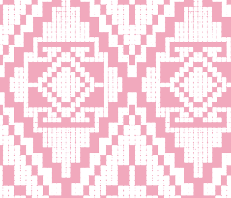 Modern native pink fabric by chicca_besso on Spoonflower - custom fabric
