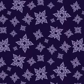 Heartfully monochrome royal purple