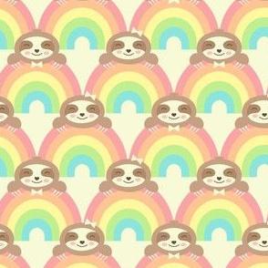 Sloths Peeking Over the Rainbow