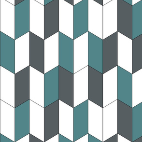 Blue geometric chevrons