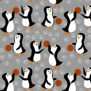 penguin basketball gray