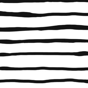 Rough hewn black + white stripes by Su_G_©SuSchaefer