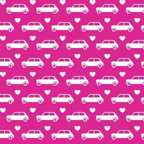 Mini Cooper Hearts - Bright Pink - Small