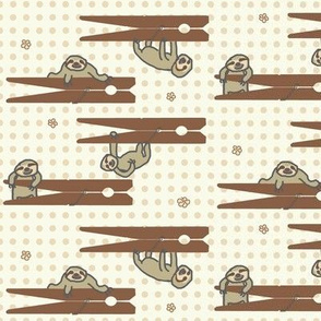 Sloths on Clothespins