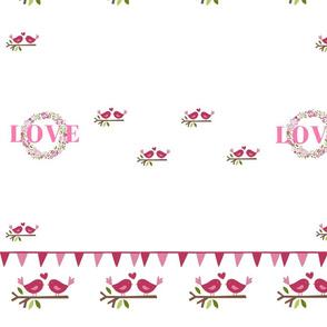 Love, Lovebirds and Wreaths
