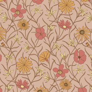 Wild flowers, pink