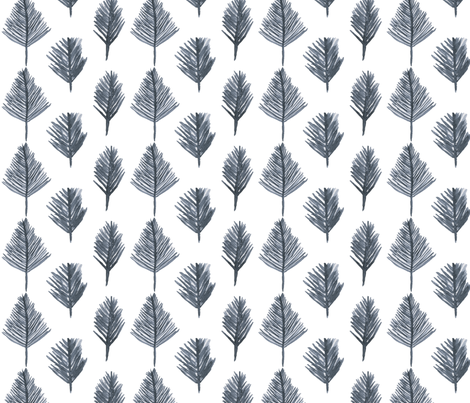 treesWhiteV2Source fabric by mesh_and_cloth on Spoonflower - custom fabric