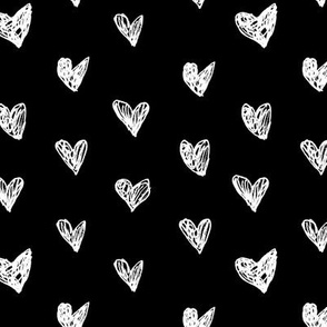 Painted love • black and white hearts