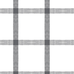 gray white linen check buffalo plaid tartan plaid-ch